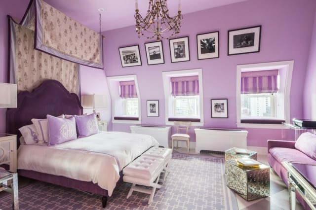 decoration chambre a coucher mauve. Black Bedroom Furniture Sets. Home Design Ideas