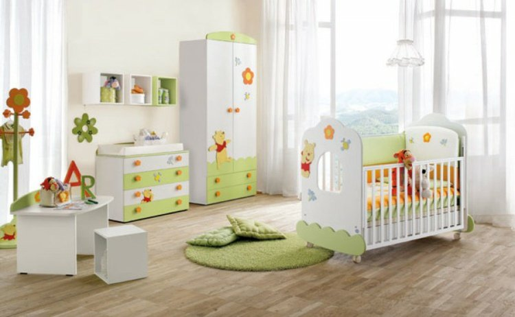 decoration chambre bebe garcon winnie. Black Bedroom Furniture Sets. Home Design Ideas