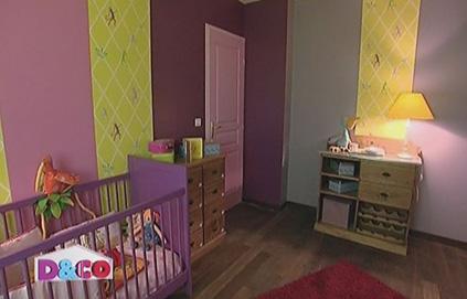decoration chambre bebe mauve - visuel #2