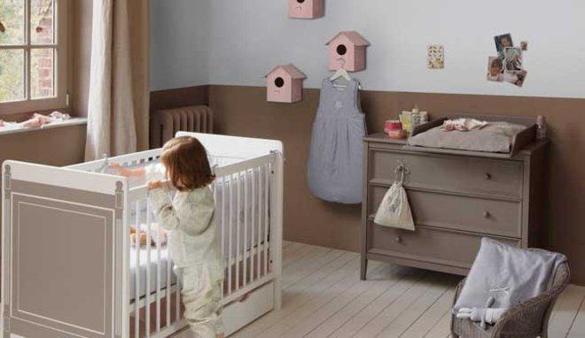 decoration chambre bebe rose et taupe - visuel #7