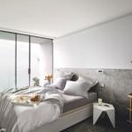 decoration chambre en gris et blanc