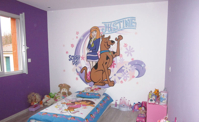 Decoration chambre fille en peinture for Decoration murale chambre fille