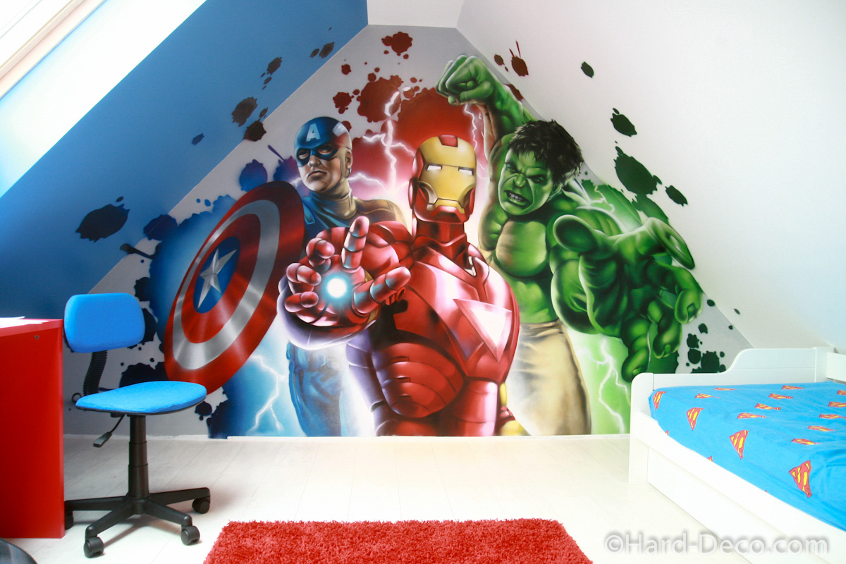 Decoration chambre garcon super heros for Decoration chambre junior garcon
