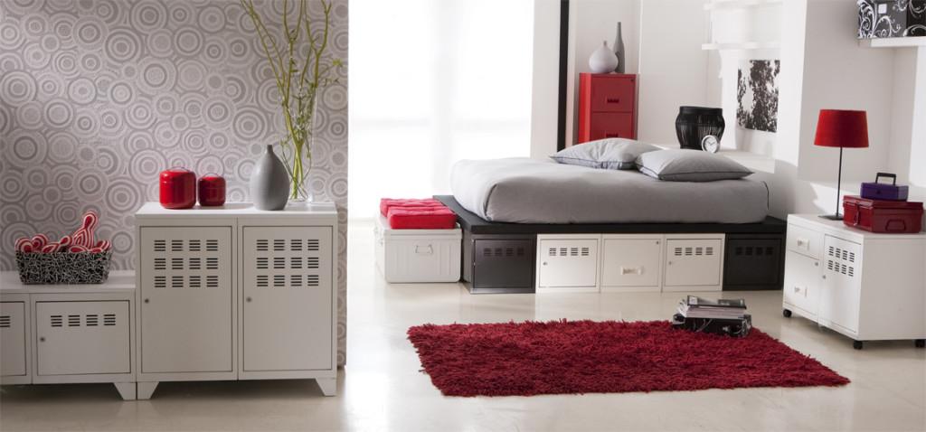 decoration chambre noir blanc rouge - visuel #4
