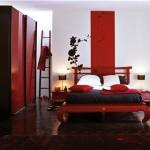 decoration chambre noir blanc rouge