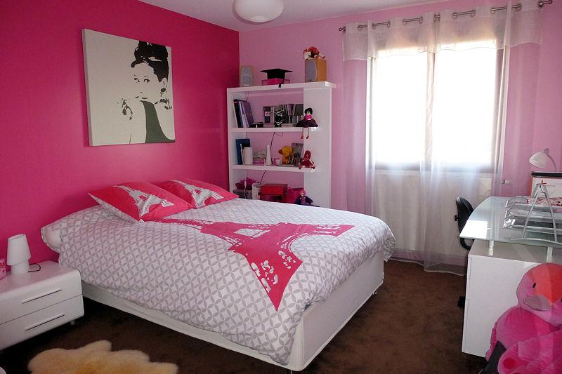 decoration chambre rose et blanc - visuel #9