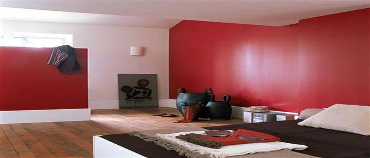 decoration chambre rouge et blanc. Black Bedroom Furniture Sets. Home Design Ideas