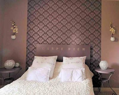 decoration tete de lit papier peint visuel 7. Black Bedroom Furniture Sets. Home Design Ideas