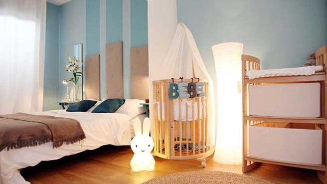 idee deco chambre parent et bebe visuel 1. Black Bedroom Furniture Sets. Home Design Ideas