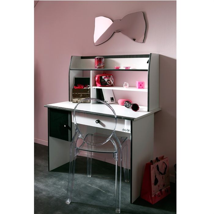 bureau fille blanc bureau petite fille blanc grand. Black Bedroom Furniture Sets. Home Design Ideas