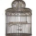 cage oiseaux decorative ancienne