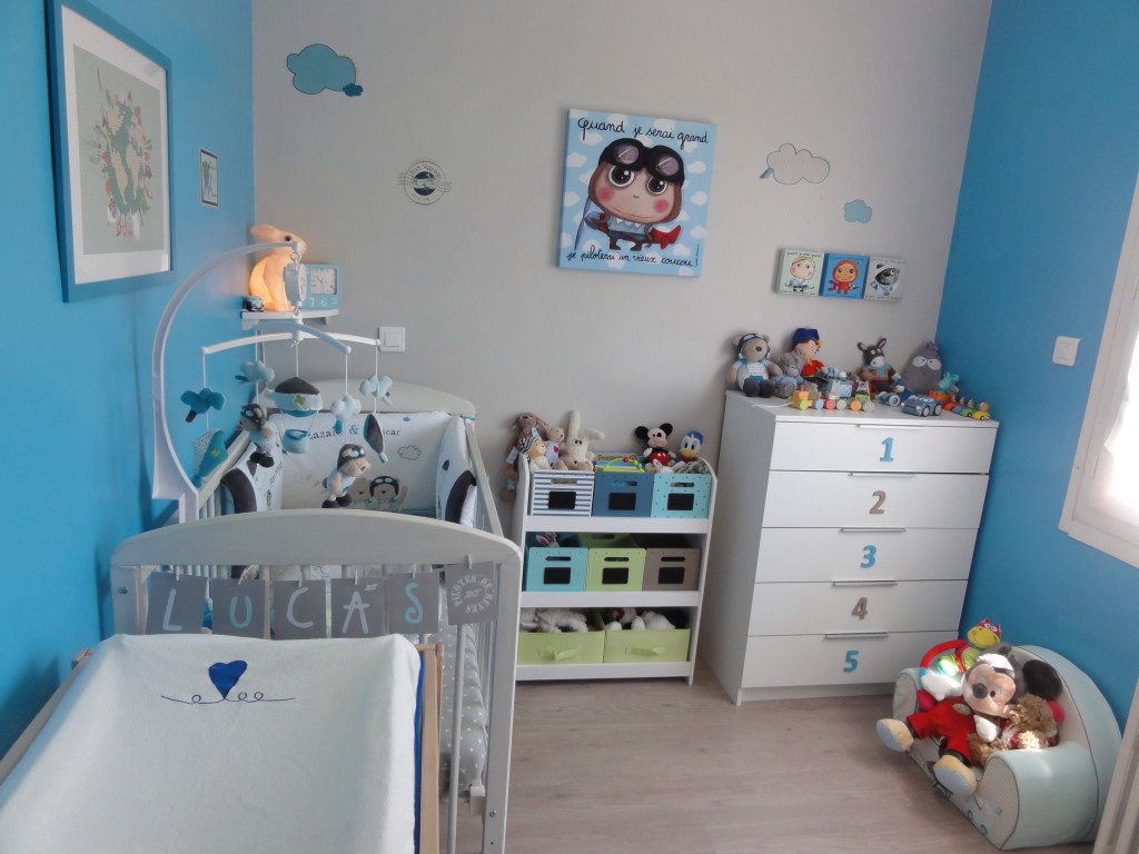 Deco Chambre Bebe Marron Et Bleu U2013 Visuel #7. «