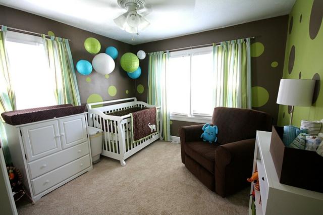 deco chambre bebe marron et bleu - visuel #8
