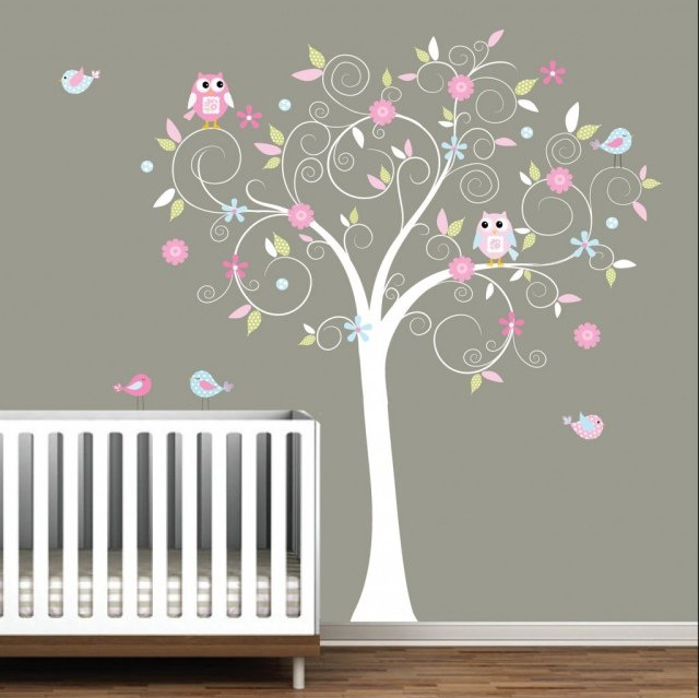 Chambre bebe hibou but pr l vement d - Decoration murale chambre bebe fille ...