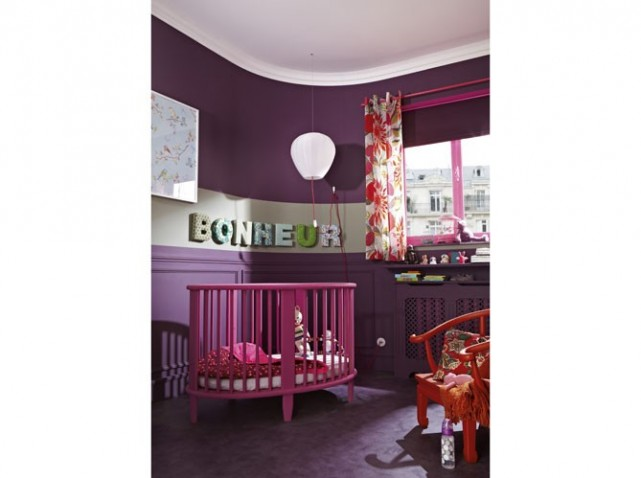deco chambre fille mauve et rose. Black Bedroom Furniture Sets. Home Design Ideas