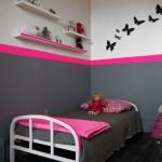 deco chambre fille noir et rose
