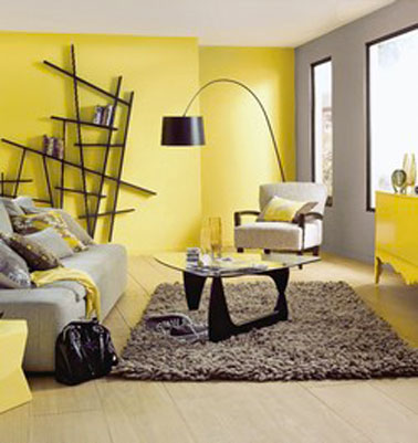 deco chambre gris et jaune visuel 7. Black Bedroom Furniture Sets. Home Design Ideas