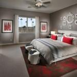 deco chambre gris et rouge