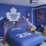 Decoration chambre de garcon hockey for Decoration chambre hockey