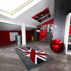 decoration chambre drapeau anglais. Black Bedroom Furniture Sets. Home Design Ideas