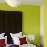 decoration chambre en vert