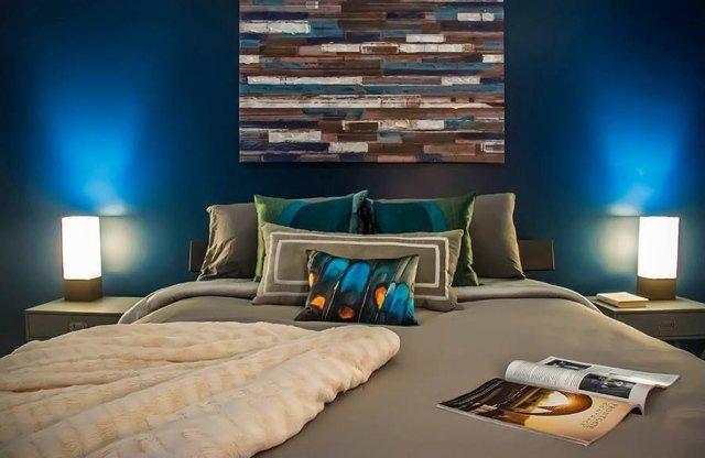 decoration chambre noir et bleu - visuel #6