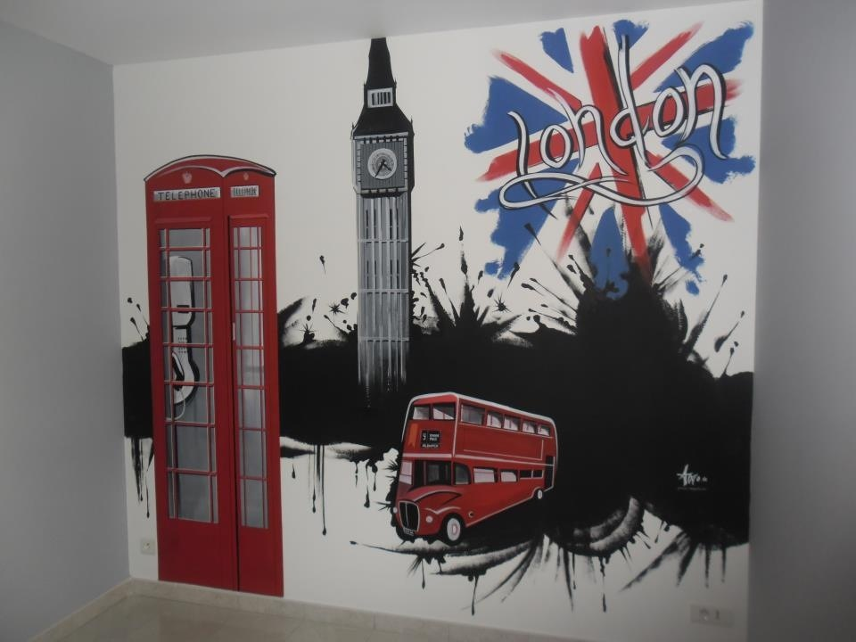Decoration pour chambre london - Decoration chambre london ...