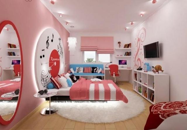 Idee Deco Chambre Ado Rose Visuel 8