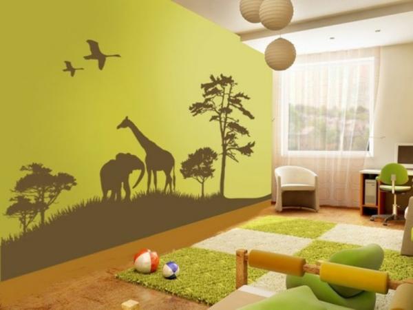 idee deco chambre bebe jungle , visuel 8