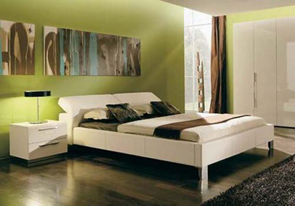 Awesome decorer chambre adulte vert anis contemporary design