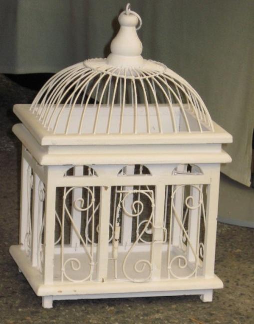 Cage oiseau deco blanche - Cage oiseau decorative interieur ...