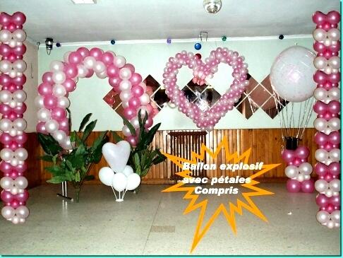 comment faire decoration ballon mariage. Black Bedroom Furniture Sets. Home Design Ideas