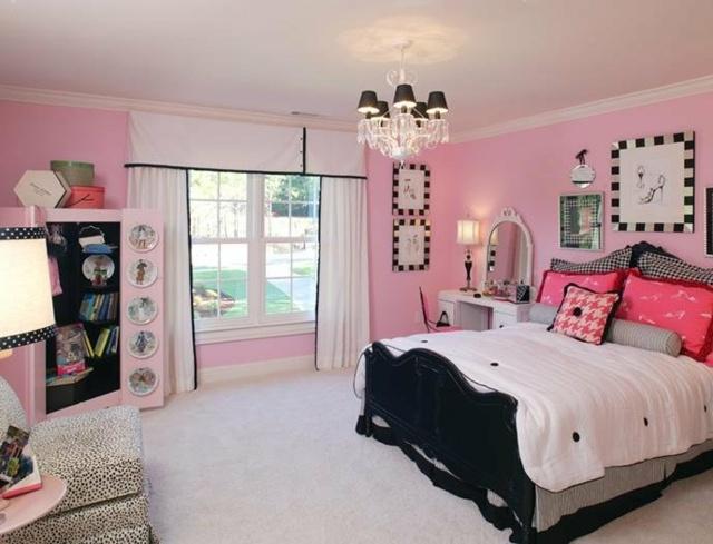 deco chambre ado rose et gris - visuel #7