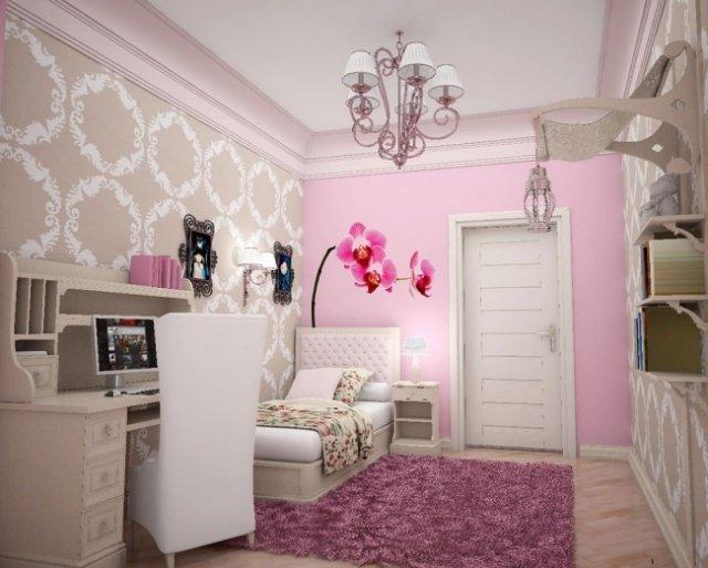 Deco Chambre Ado Rose Et Gris Visuel 1