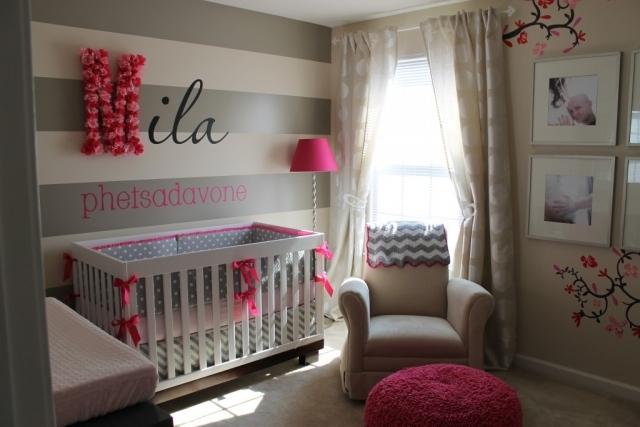 Deco Chambre Bebe Fille Gris Rose : Deco chambre bebe fille rose et gris