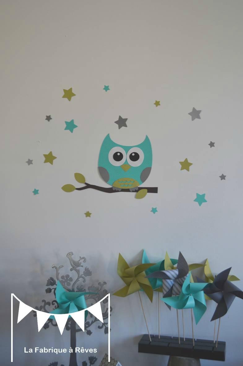 Deco chambre bebe hiboux - Cadre decoration chambre bebe ...