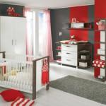 deco chambre bebe rouge et beige