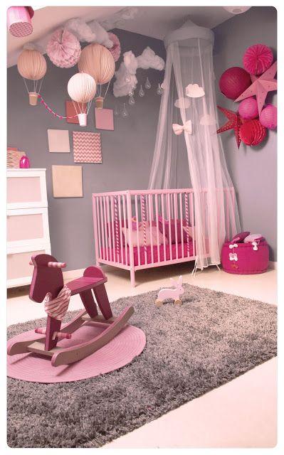 Deco chambre fille rose poudre visuel 6 for Rose poudre chambre