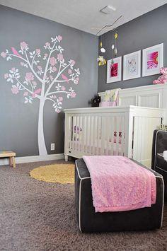 Deco chambre fille rose poudre visuel 7 for Chambre rose poudre