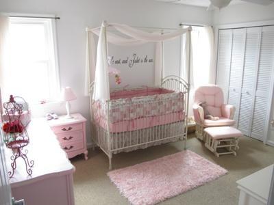 deco chambre fille rose poudre