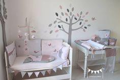 chambre fille rose poudre