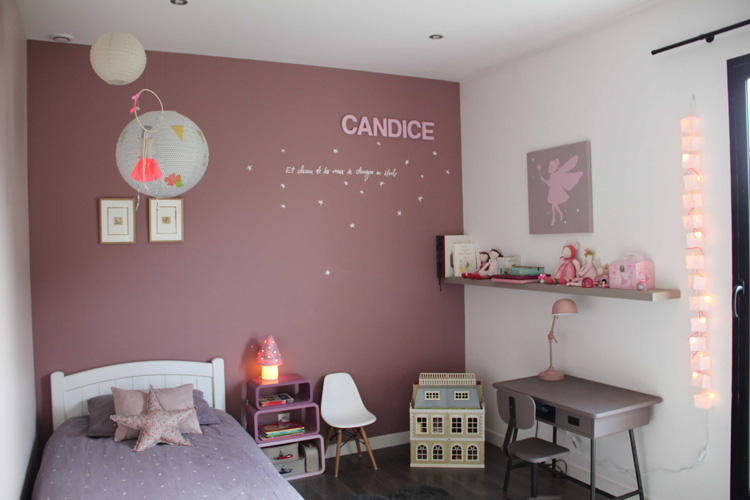 Deco chambre fille rose for Decoration murale chambre fille