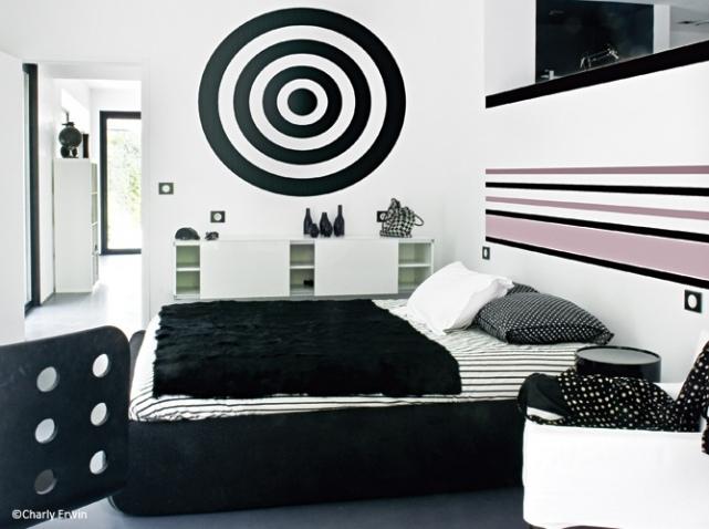 deco chambre noir et blanc - visuel #8