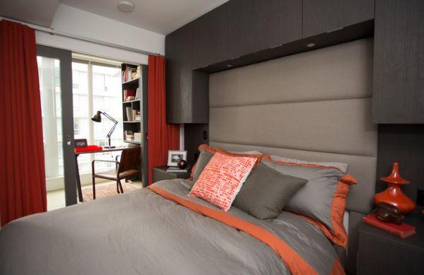 deco chambre orange et blanc - visuel #3