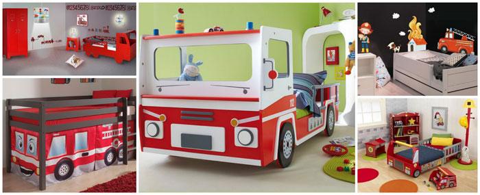 Deco chambre theme pompier visuel 1 - Deco chambre enfant voiture ...