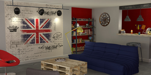 dco londres chambre ado amazing dco chambre ado style londres kit stickers drapeau anglais with. Black Bedroom Furniture Sets. Home Design Ideas