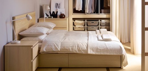 decoration chambre a coucher ikea visuel 3. Black Bedroom Furniture Sets. Home Design Ideas