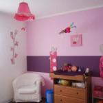decoration chambre bebe fille mauve