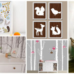 decoration chambre bebe theme foret