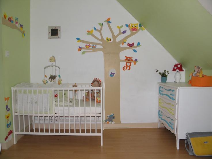 decoration chambre bebe theme foret visuel 3. Black Bedroom Furniture Sets. Home Design Ideas
